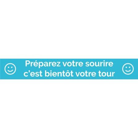 """Ligne au sol """"Préparez votre sourire"""" - 100x15 cm - Couleur au choix"""