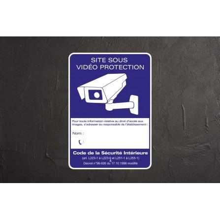 Panneau vidéo surveillance adhésif - format A4