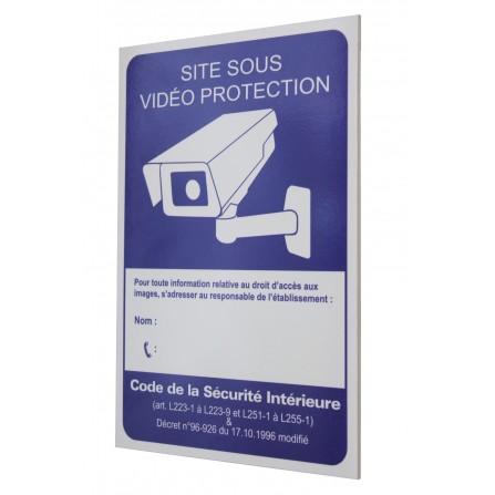 Panneau vidéo surveillance rigide - format A4