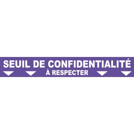 """Ligne au sol """"Seuil de confidentialité"""" - 100x15 cm - Couleur au choix"""