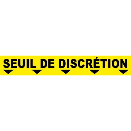 """Ligne au sol """"Seuil de discretion"""" - 100x15 cm - Couleur au choix"""