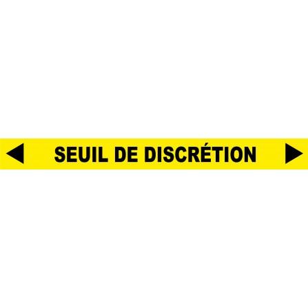 """Ligne au sol """"Seuil de discretion"""" - 100x10 cm - Couleur au choix"""