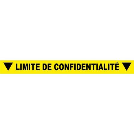 """Ligne au sol """"Limite de confidentialité"""" - 100x10 cm - Couleur au choix"""