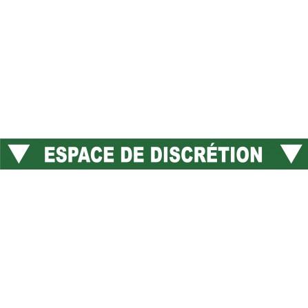 """Ligne au sol """"Espace de discrétion"""" - 100x10 cm - Couleur au choix"""