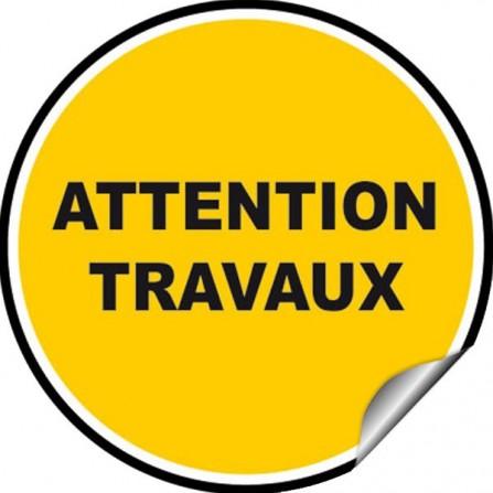 Stickers Avertissement - Attention travaux