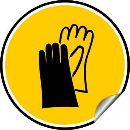 Sticker Obligation - Port de gants de protection obligatoire