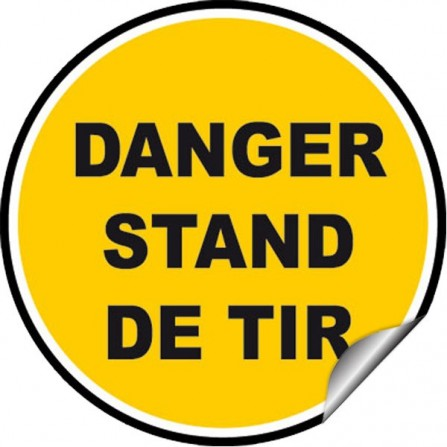 Sticker Avertissement - Danger stand de tir