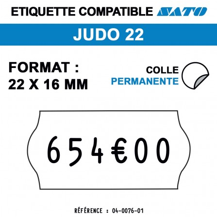 1200 Étiquettes permanentes pour étiqueteuse SATO - 22x16