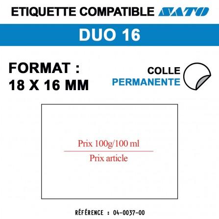 """1500 Étiquettes """"prix 100g/100ml"""" pour étiqueteuse SATO DUO 16 - 18x16"""