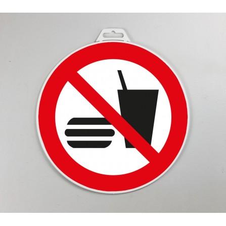 Disque d'interdiction rigide - Interdit de manger et de boire