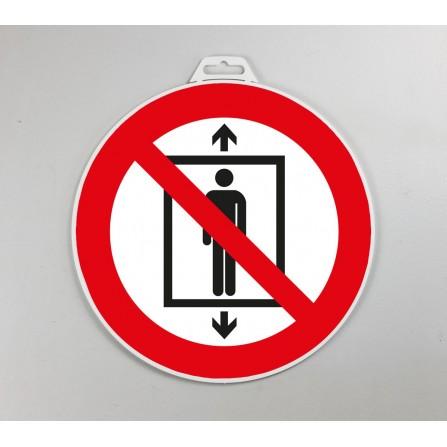 Disque d'interdiction rigide - Interdit d'utiliser l'ascenseur