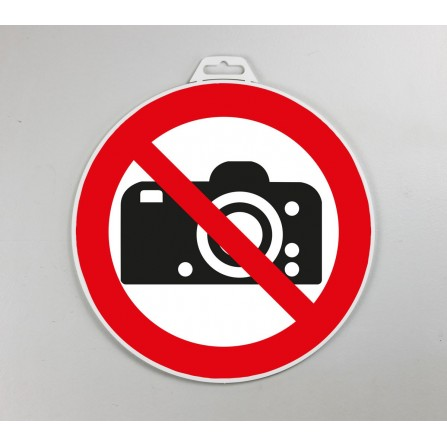 Disque d'interdiction rigide - Photos interdites
