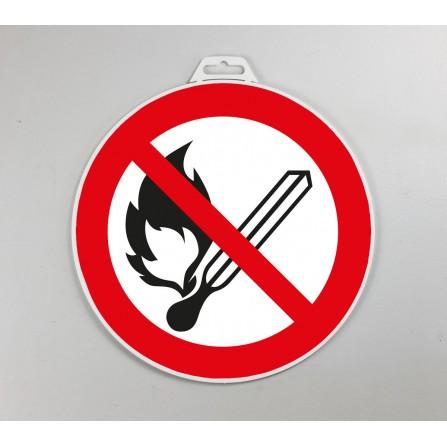 Disque d'interdiction rigide - Flamme interdite