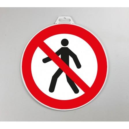 Disque d'interdiction rigide - Interdit aux piétons