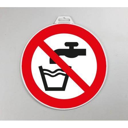 Disque d'interdiction rigide - Interdit de boire (eau non potable)