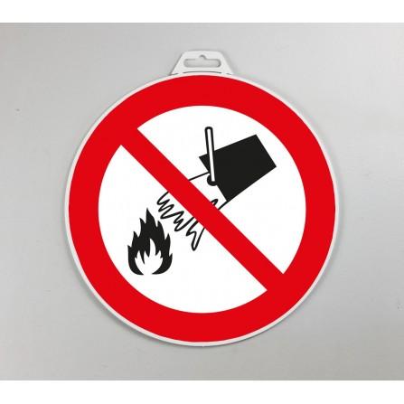 Disque d'interdiction rigide - Interdit d'éteindre avec de l'eau