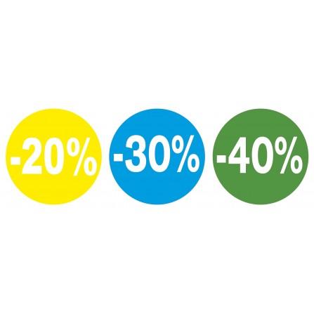 Pack de stickers de soldes -20 % à -70%