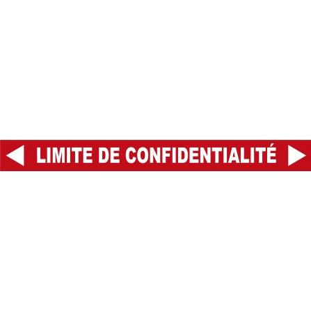 """Destockage - Ligne au sol """"Limite de confidentialité"""" - 100x10 cm rouge"""