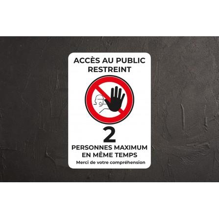 Accès restreint à 2 personnes - Affiche A3