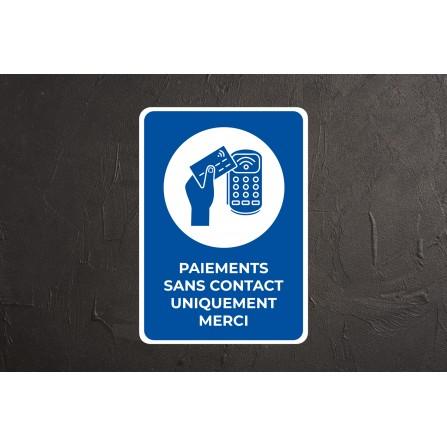 Affiche paiement sans contact obligatoire