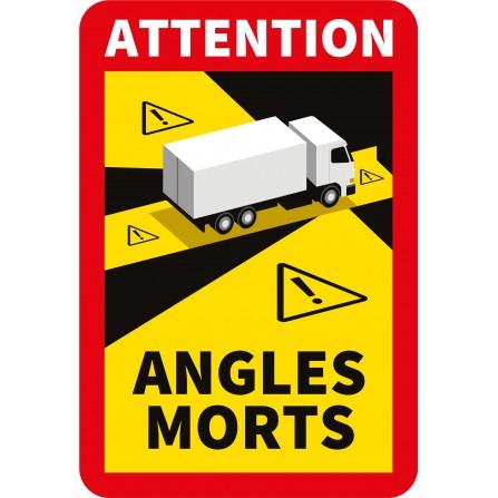 Stickers angles morts pour camion - Lot de 3