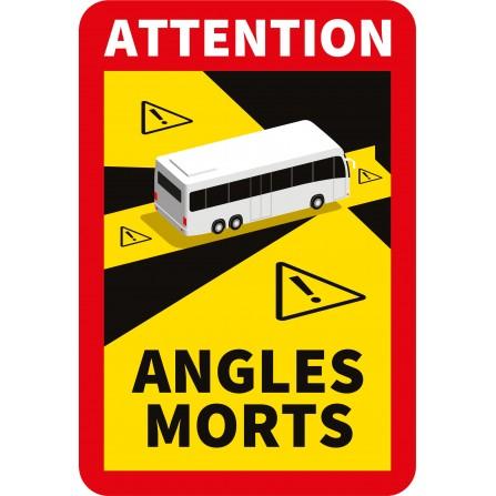 Stickers angles morts pour bus - Lot de 5