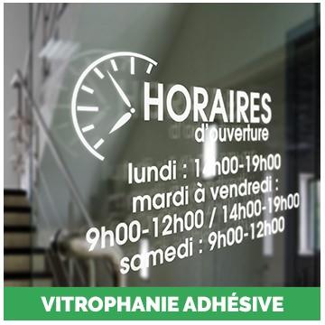 Vitrophanie adhésive